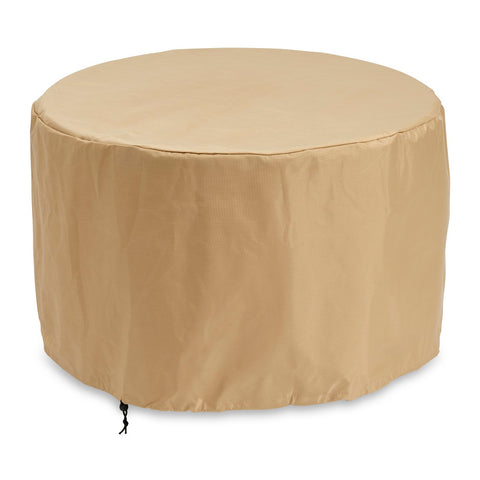 "The Outdoor GreatRoom 34"" x 34"" x 21.13"" Round Protective Cover in Tan - CVR36"