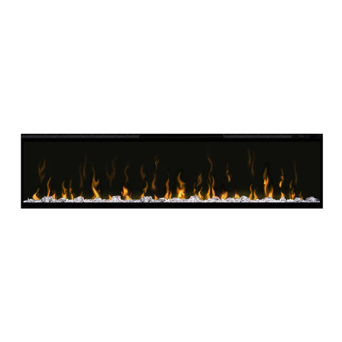 Dimplex 60-Inch IgniteXL Electric Wall Mounted Fireplace w/ Diamond Acrylic Media and Multi-fuction Remote - DXXLF60