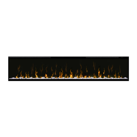Dimplex 74-Inch IgniteXL Electric Wall Mounted Fireplace w/ Diamond Acrylic Media and Multi-fuction Remote - DXXLF74