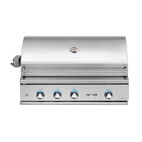 Delta Heat 38-Inch Natural Gas Built-In Grill, w/ Infrared Rotisserie and Sear Zone - DHBQ38RS-DN