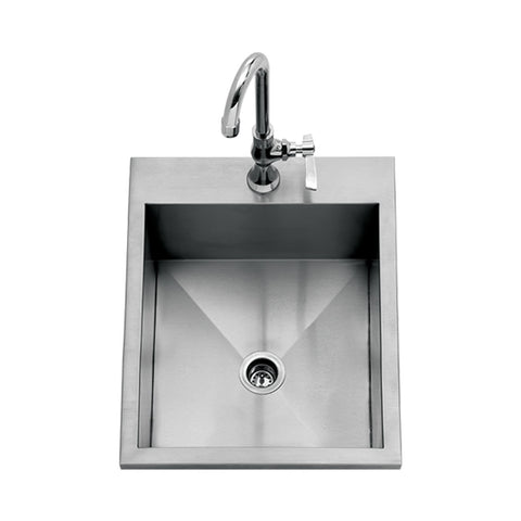 Delta Heat 15-Inch Drop-In Outdoor Sink w/ Cold Water Faucet - DHOS15