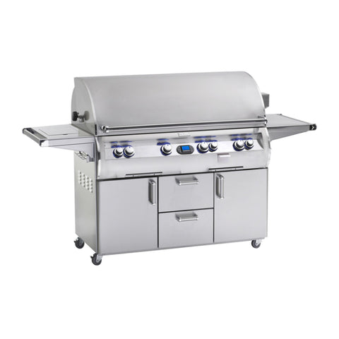 Fire Magic Echelon Diamond E1060s 48-Inch Natural Gas Freestanding Grill w/ Flush Mounted Single Side Burner, Backburner, Rotisserie Kit, One Infrared Burner and Digital Thermometer - E1060S-8L1N-62