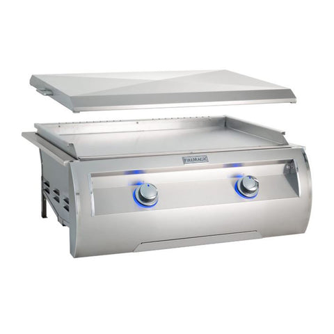 Fire Magic Echelon Diamond E660i 30-Inch Natural Gas Built-In Griddle w/ Stainless Steel Removable Lid - E660I-0T4N