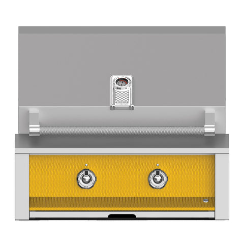 Aspire by Hestan 30-Inch Propane Gas Built-In Grill, 2 U-Burners (Sol Yellow) - EAB30-LP-YW