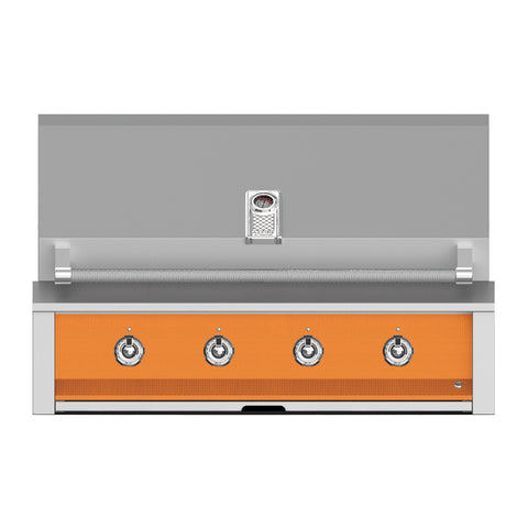 Aspire by Hestan 42-Inch Natural Gas Built-In Grill, 4 U-Burners (Citra Orange) - EAB42-NG-OR