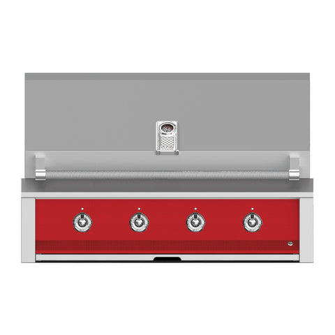 Aspire by Hestan 42-Inch Natural Gas Built-In Grill, 4 U-Burners (Matador Red) - EAB42-NG-RD