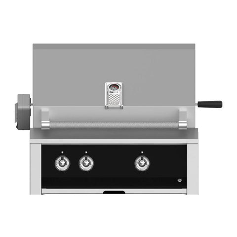 Aspire by Hestan 30-Inch Natural Gas Built-In Grill, 2 U-Burners w/ Rotisserie (Stealth Black) - EABR30-NG-BK