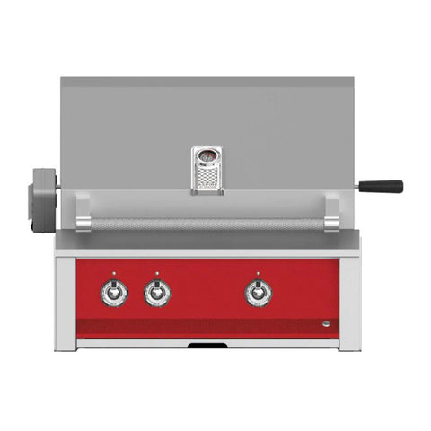 Aspire by Hestan 30-Inch Natural Gas Built-In Grill, 2 U-Burners w/ Rotisserie (Matador Red) - EABR30-NG-RD