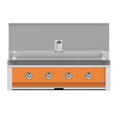 Aspire by Hestan 42-Inch Propane Gas Built-In Grill, 3 U-Burner and 1 Sear (Citra Orange) - EMB42-LP-OR