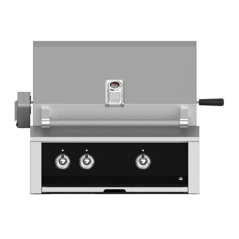 Aspire by Hestan 30-Inch Natural Gas Built-In Grill, 1 U-Burner - 1 Sear w/ Rotisserie (Stealth Black) - EMBR30-NG-BK