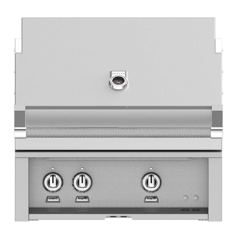 Hestan 30-Inch Natural Gas Built-In Grill, 2 Sear w/ Rotisserie in Stainless Steel - GSBR30-NG