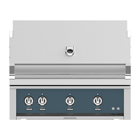 Hestan 36-Inch Natural Gas Built-In Grill, 3 Sear w/ Rotisserie in Dark Gray - GSBR36-NG-GG