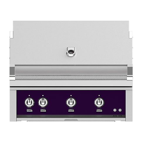Hestan 36-Inch Propane Gas Built-In Grill, 3 Sear w/ Rotisserie in Purple - GSBR36-LP-PP