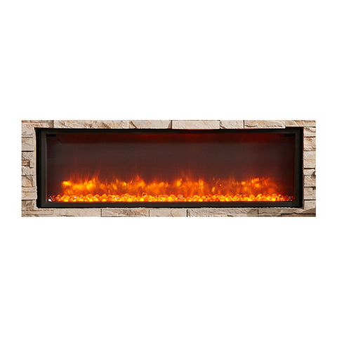 The Outdoor GreatRoom 64-Inch Gallery Linear Built In Electric Fireplace - GBL-64