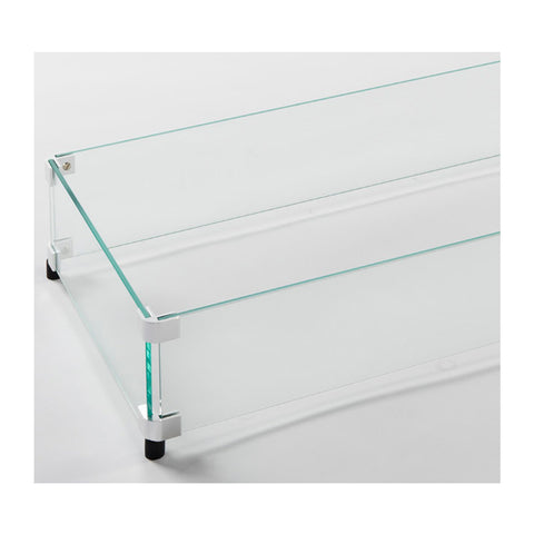 "The Outdoor GreatRoom 12"" x 84"" Linear Tempered Glass Wind Guard - GG-1284"
