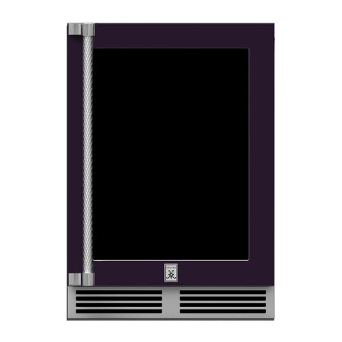 Hestan 24-Inch Outdoor Dual Zone Refrigerator Wine Storage w/ Glass Door and Lock (Right Hinge) in Purple - GRWGR24-PP