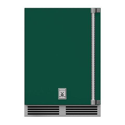 Hestan 24-Inch Outdoor Dual Zone Refrigerator Wine Storage w/ Solid Door and Lock (Left Hinge) in Green - GRWSL24-GR