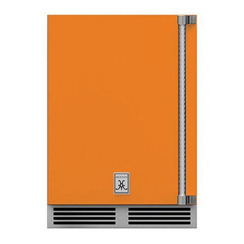 Hestan 24-Inch Outdoor Dual Zone Refrigerator Wine Storage w/ Solid Door and Lock (Left Hinge) in Orange - GRWSL24-OR
