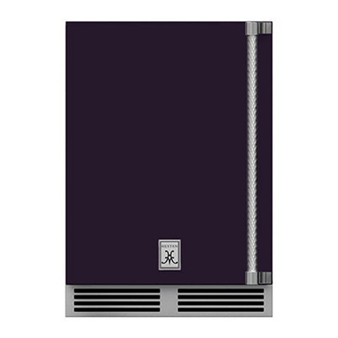 Hestan 24-Inch Outdoor Dual Zone Refrigerator Wine Storage w/ Solid Door and Lock (Left Hinge) in Purple - GRWSL24-PP