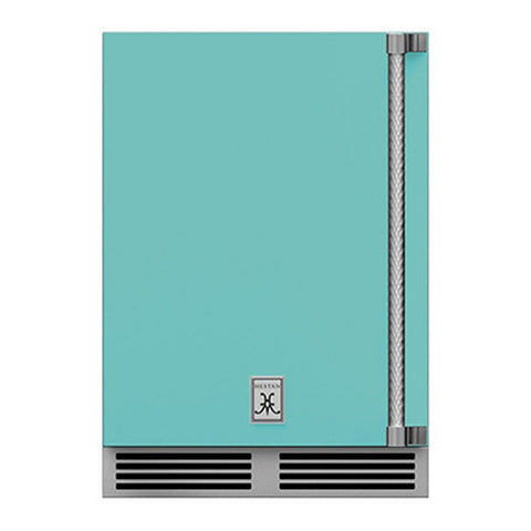 Hestan 24-Inch Outdoor Dual Zone Refrigerator Wine Storage w/ Solid Door and Lock (Left Hinge) in Turquoise - GRWSL24-TQ