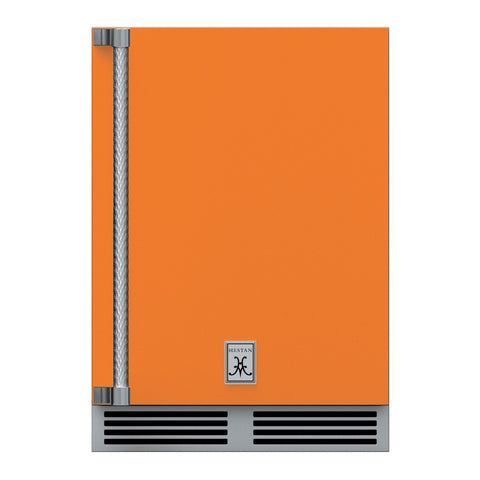 Hestan 24-Inch Outdoor Dual Zone Refrigerator Wine Storage w/ Solid Door and Lock (Right Hinge) in Orange - GRWSR24-OR