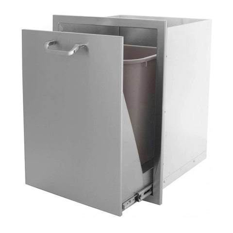 Grillscapes 20-Inch Stainless Steel Roll-Out Single Trash/Propane Tank Drawer (Bin Included) - GS-260-TRLP-DRW
