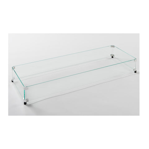 "The Outdoor GreatRoom 12"" x 42"" Linear Tempered Glass Wind Guard - GLASS GUARD-1242"
