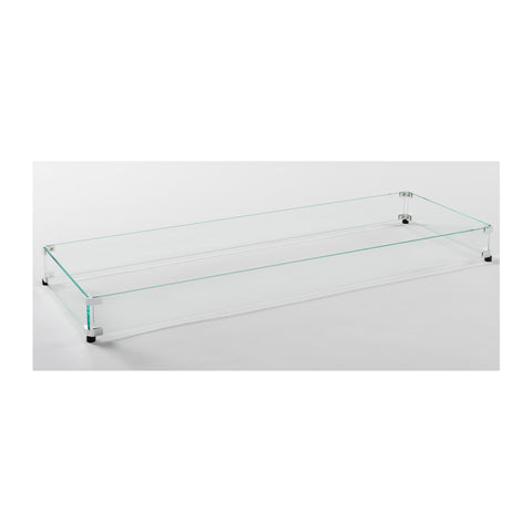 "The Outdoor GreatRoom 12"" x 64"" Linear Tempered Glass Wind Guard - GLASS GUARD-1264"