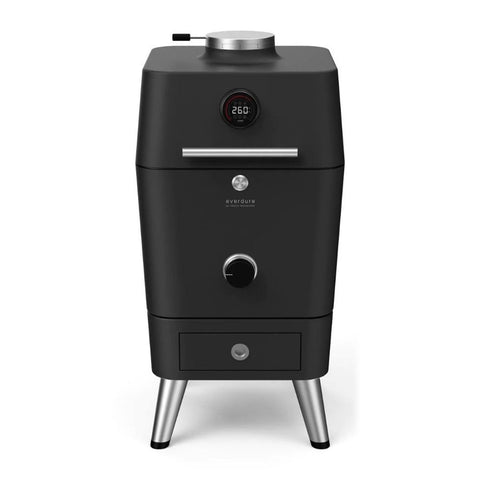 Everdure 4K Electric Ignition Freestanding Charcoal Grill & Smoker w/ Electric Ignition (Graphite) - HBCE4KGUS