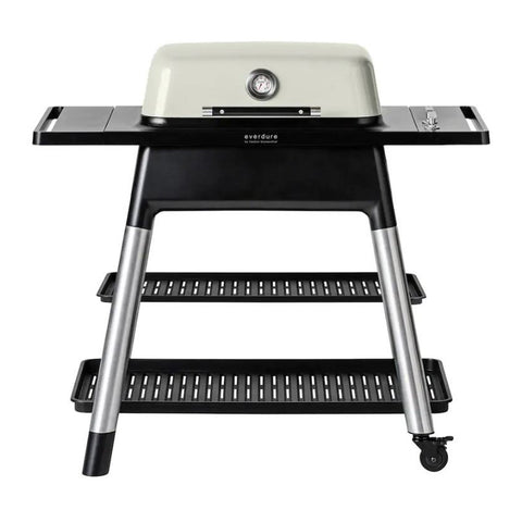 Everdure by Heston Blumenthal Force 48-Inch Propane Gas Freestanding Barbeque w/ Hose & Regulator (Stone) - HBG2SUS