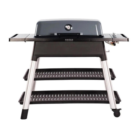 Everdure by Heston Blumenthal Furnace 52-Inch Propane Gas Freestanding Barbeque w/ Hose & Regulator (Graphite) - HBG3GUS