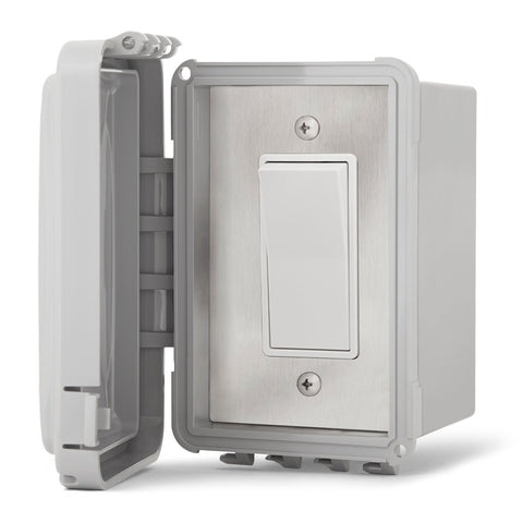 Infratech Simple On/Off Single Switch w/ Surface Mount and Weather Proof Gang Box (20 Amp Per Switch) - 14 4420