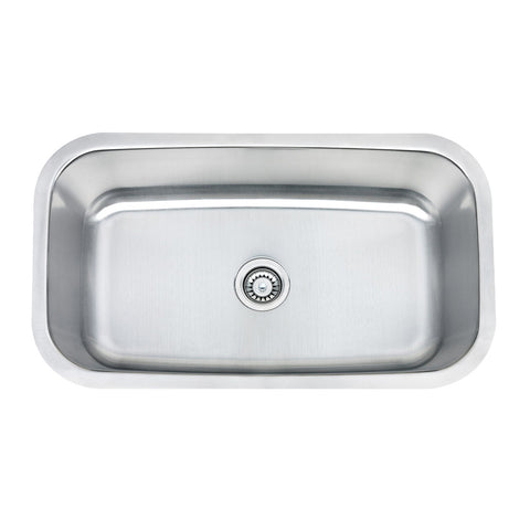 E2 Stainless 16 Gauge 31x18x10 Stainless Steel Rectangular Sink - M3018-16