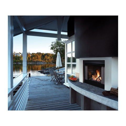 Barbara Jean 37-Inch Natural Gas 55,000 BTU Outdoor Vent-Free Fireplace in Satin Black - KFOFP42N