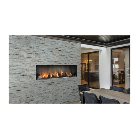 Barbara Jean 55-Inch Natural Gas 80,000 BTU Outdoor Single Sided Linear Fireplace - KFOFP5548S1