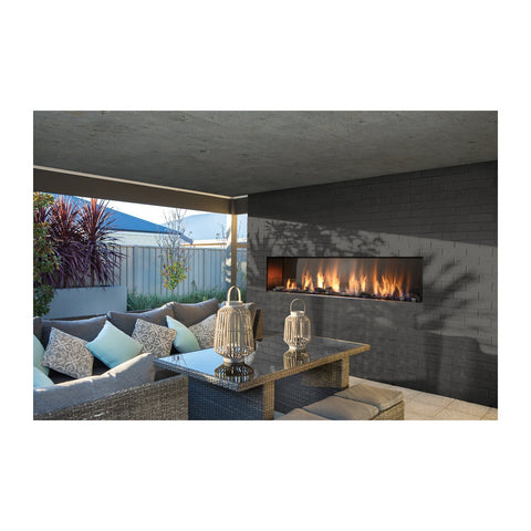 Barbara Jean 79-Inch Natural Gas 120,000 BTU Outdoor Single Sided Linear Fireplace - KFOFP7972S1