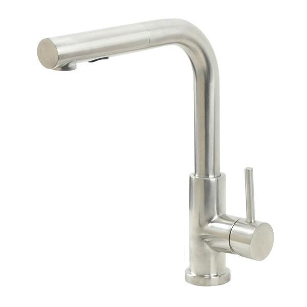 E2 Stainless Solid Stainless Steel Faucet w/ Single Lever Water Control, Pull Out Sprayer and Selectable Spray Patterns - KPS3032C/May