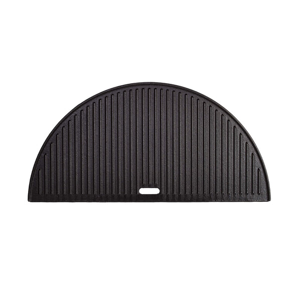 Kamado Joe Cast Iron Half Moon Reversible Griddle for 24-Inch Big Joe's - BJ-HCIGRIDDLE