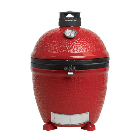 Kamado Joe Standalone 24-Inch Big Joe III Red w/ Hyperbolic Insert, Heat Deflector, Divide & Conquer System, Tools & Air Lift Hinge - KJ15040821