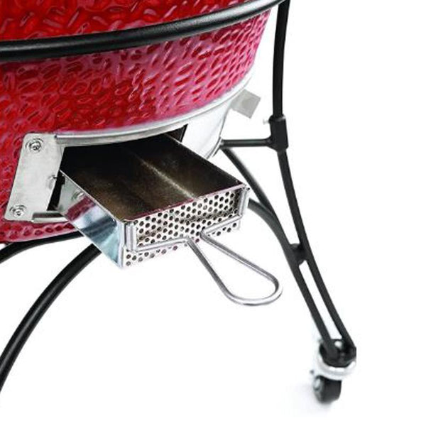 Kamado Joe Standalone 18-Inch Classic Joe II Red w/ Heat Deflector, Tools & Air Lift Hinge - KJ23NRHC
