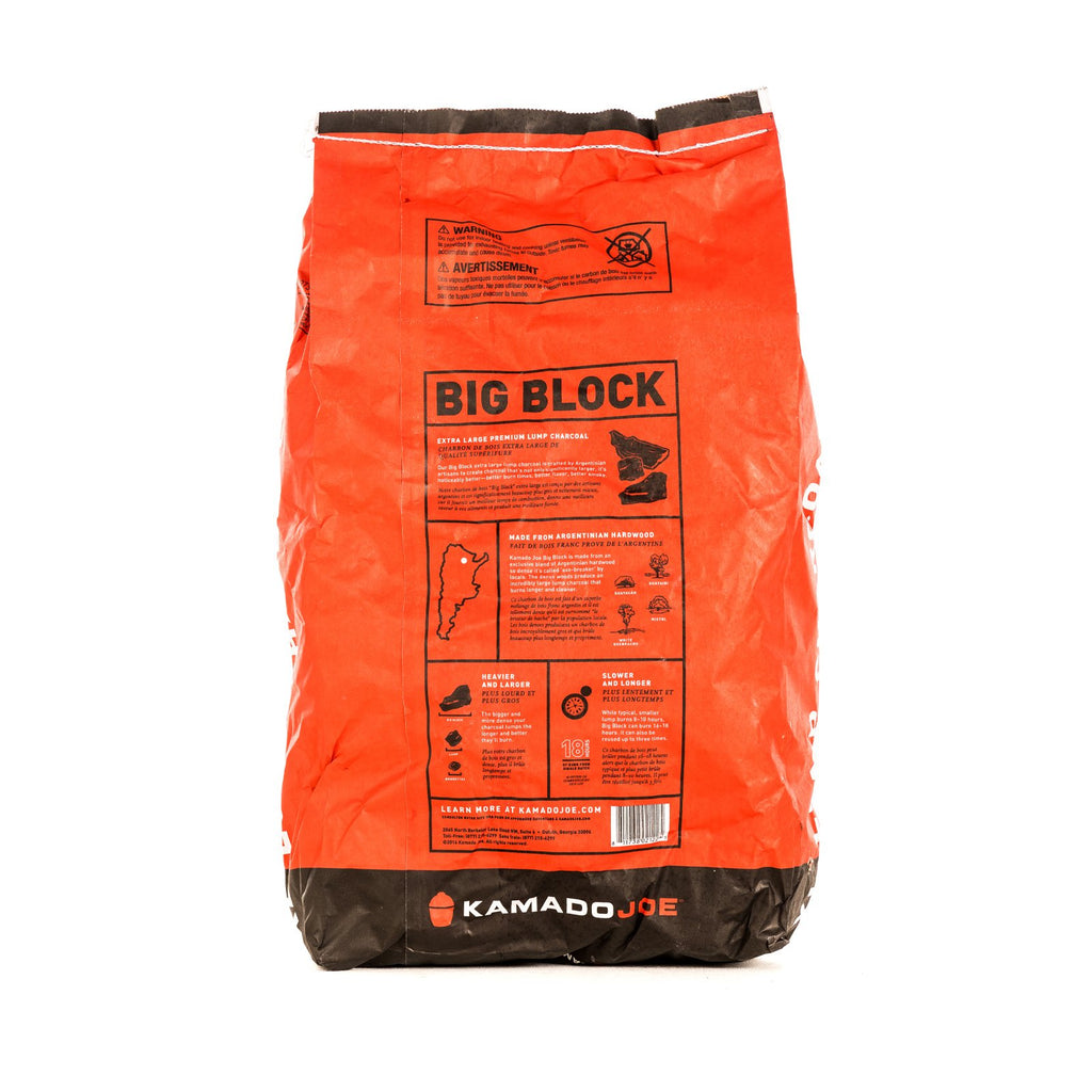 Kamado Joe Big Block XL Natural Lump Charcoal 20Lb. Bag - KJ-CHAR
