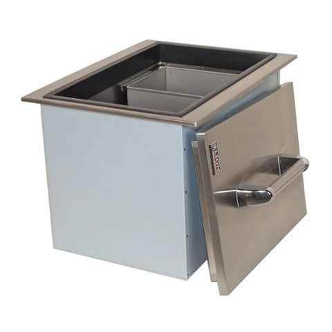 Lion Stainless Steel Drop-In Ice Bin w/ Condiment Tray & Lid - L5312