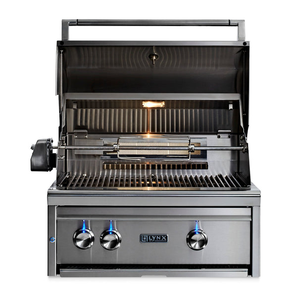 Lynx Professional 27-Inch Natural Gas Built-In Grill - 1 Trident w/ Rotisserie - L27TR-NG