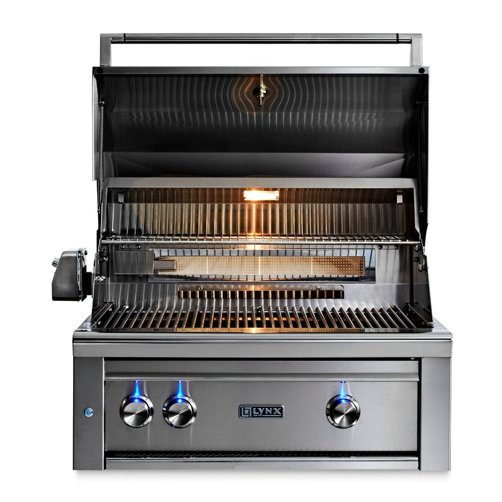 Lynx Professional 30-Inch Natural Gas Built-In Grill - All Trident w/ Rotisserie - L30ATR-NG