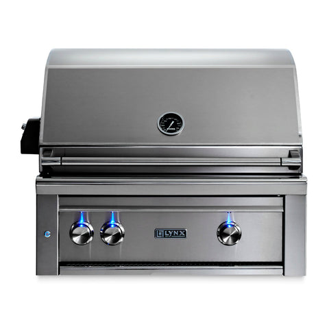 Lynx Professional 30-Inch Natural Gas Built-In Grill w/ Rotisserie - L30R-3-NG
