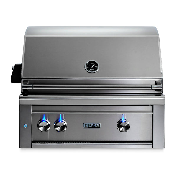 Lynx Professional 30-Inch Natural Gas Built-In Grill - 1 Trident w/ Rotisserie - L30TR-NG