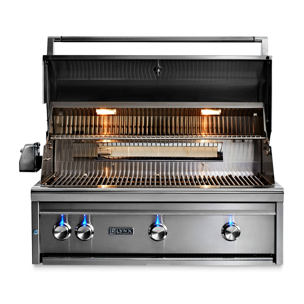 Lynx Professional 36-Inch Natural Gas Built In All Trident Grill w/ Flametrak and Rotisserie - LF36ATR-NG