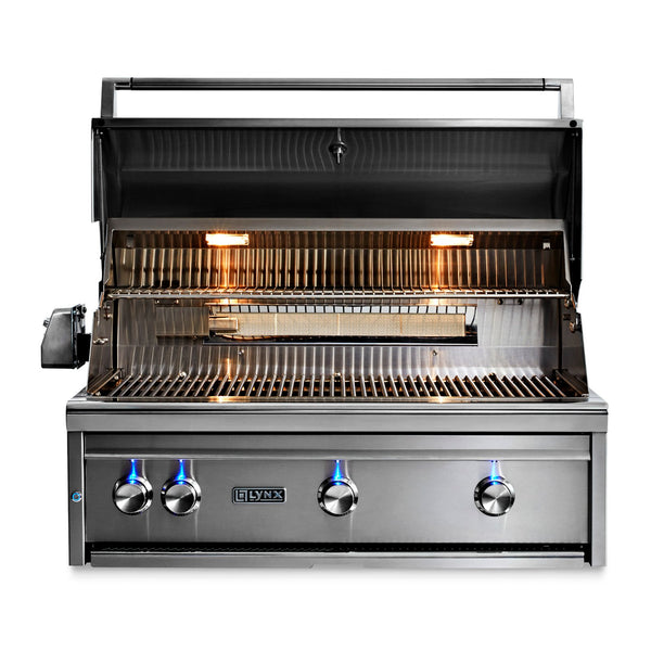 Lynx Professional 36-Inch Natural Gas Built-In Grill - 1 Trident Sear Burner w/ Rotisserie - L36TR-NG
