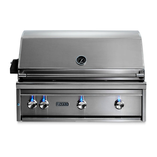 Lynx Professional 36-Inch Natural Gas Built-In Grill w/ Rotisserie - L36R-3-NG