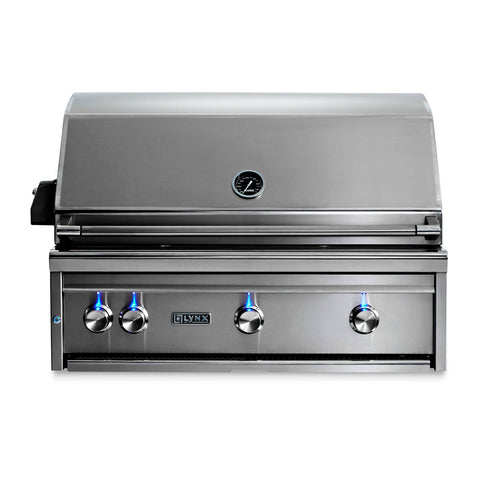 Lynx Professional 36-Inch Natural Gas Built-In Grill - All Trident Sear Burner w/ Rotisserie - L36ATR-NG